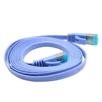 六类千兆网络跳线-蓝色金属头